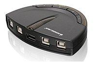 Iogear Gub431 Usb Peripheral Sharing Switch - 4-port - Black