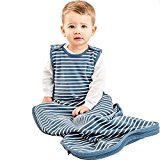 Woolino Toddler Sleeping Bag, 4 Season Merino Wool Baby Sleep Bag or Sack, 2-4 Years, Navy Blue