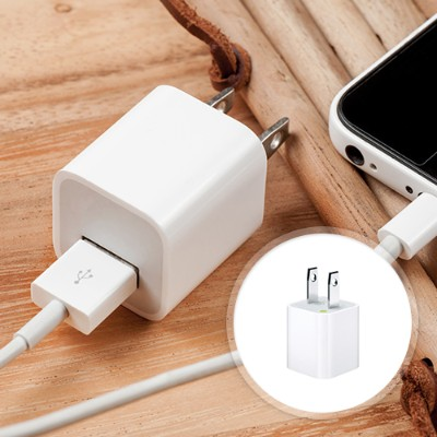 Apple Md810ll/a 5 Watts Usb Power Adapter For All Iphone And Ipods With Dock/lightning Connector - White