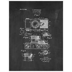 Photographic Camera Patent Art Print