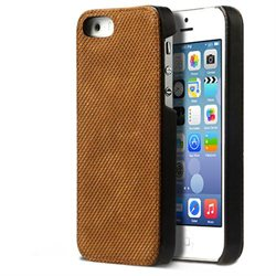Zenus Apple iPhone 5S Pixel Leather Bar Case Cover - iPhone - Camel - Genuine Leather