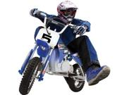 Razor 15128040 - MX350 Dirt Rocket - 2009 Type: Motorcycles Manufacturer Recommended Age: 12 and up Color: Blue Color Mapping: Blue Material: Steel Gender: Unisex Age: Child Feature: Razor MX350 Electric Dirt Rocket fun with speeds up to 14 MPH