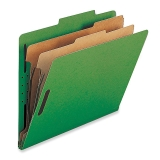 Classification Folders,w/ Fstnrs,2 Dvdrs,Legal,10/BX,GN