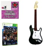 Mad Catz Rock Band 3 Guitar Bundle - Red Hot Chili Peppers Bonus Tracks, Full Game, and Fender Stratocaster Guitar Controller for Xbox 360