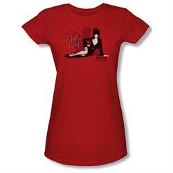 Girls(8-12yrs) ELVIRA Cap Sleeve HELL ON HEELS Small T-Shirt Tee