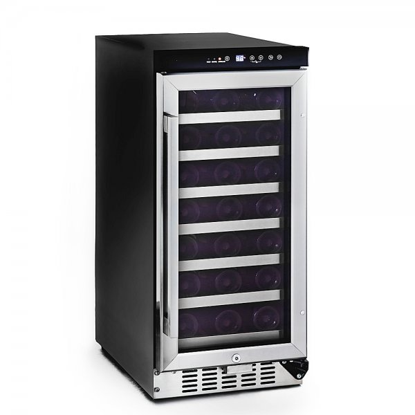 33 Bottle Built In Wine Refrigerator Stainless steel 34 H x 14 75 W x 24 25 D BWR 33SD