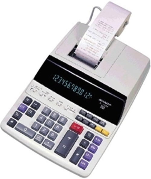 Sharp Electronics El-1197piii Printing Calculator With Clock And Calendar - 12 Digit - 2 Color