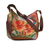 Orchid Sunset Hand-Painted Leather Purse by The Bradford Exchange