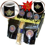 cgb_18433_1 Perkins Designs Animals - Firefly digital artwork of a colorful Firefly insect with reflecting wings and antennae - Coffee Gift Baskets - Coffee Gift Basket