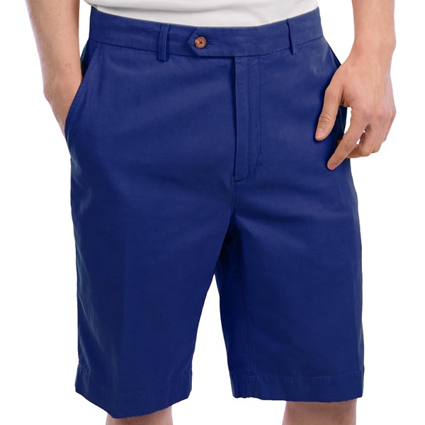 Fairway And Greene Washed Silk-cotton Twill Shorts - Flat Front (for Men)