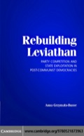By examining how post-communist political parties rebuilt the state in Bulgaria, the Czech Republic, Estonia, Hungary, Latvia, Lithuania, Poland, Slovakia, and Slovenia, Grzymala-Busse explains how even opportunistic political parties will limit their corrupt behaviour and abuse of state resources when faced with strong political competition.