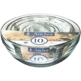 ANCHOR HOCKING 10 Piece Glass Mixing Bowl Value Pack
