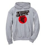 5sos Shirt Dymo Color Logo Hoodie T-shirt-03 5 Seconds of Summer TEE (US-XL / ASIA-XXL, GREY-RED)