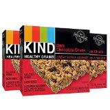 KIND Healthy Grains Granola Bars, Dark Chocolate Chunk, 1.2oz Bars, 15 Count