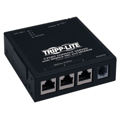 Tripplite B095-003-1e-m 3-port Ip Serial Console/terminal Server Built-in Modem For Out-of-band Access