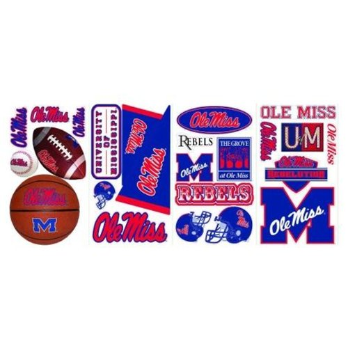 Roommate RMK1733SCS Ole Miss Peel and Stick Wall Decals