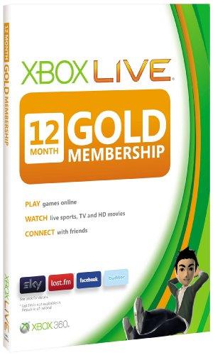 Xbox LIVE Gold 12-Month Membership Card (Xbox 360)