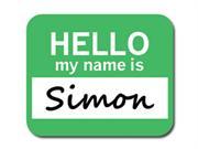 Simon Hello My Name Is Mousepad Mouse Pad
