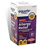 Equate - Allergy Relief - Fexofenadine 180 mg, 30 Tablets (Compare to Allegra Allergy)