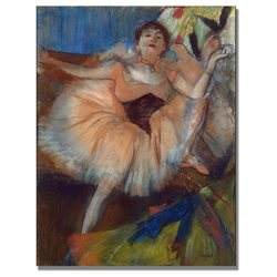 Edgar Degas 'Seated Dancer 1879' Canvas Art