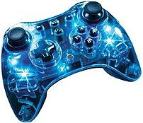 Pdp 667b8887 Afterglow Pro Wireless Controller For Wii U - Blue