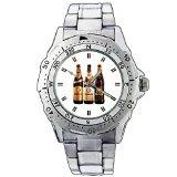 XZE01-1118 Erdinger Weissbraeu Weissbier Pikantus Dunkel Stainless Steel Wrist Watch