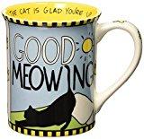 Enesco Our Name is Mud by Lorrie Vesey Good Meowing Mug, 5.25