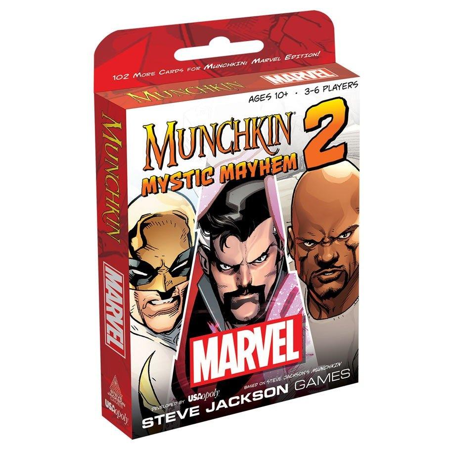 Munchkin USAopoly MUS011413 Munchkin Marvel 2 Mystic Mayhem Board Game