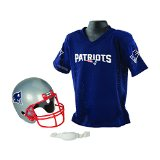 Franklin Sports NFL New England Patriots Replica Youth Helmet and Jersey Set
