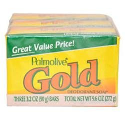 Bath Bar Soap Gold by Palmolive for Unisex - 3 x 3.20 oz Soap - Palmolive Bar Soap