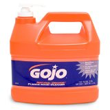 GOJO 1Gallon Bottle Natural* Orange Orange Citrus Scented Lotion Formula Hand Cleaner With Pumice Scrubbing Particles With Pump Dispenser (Pack of 4)