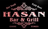 u19087-r HASAN Family Name Gift Bar & Grill Home Beer Neon Light Sign