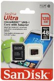 Sandisk Ultra 128 GB microSD Extended Capacity (microSDXC) SDSDQUA-128G-A46