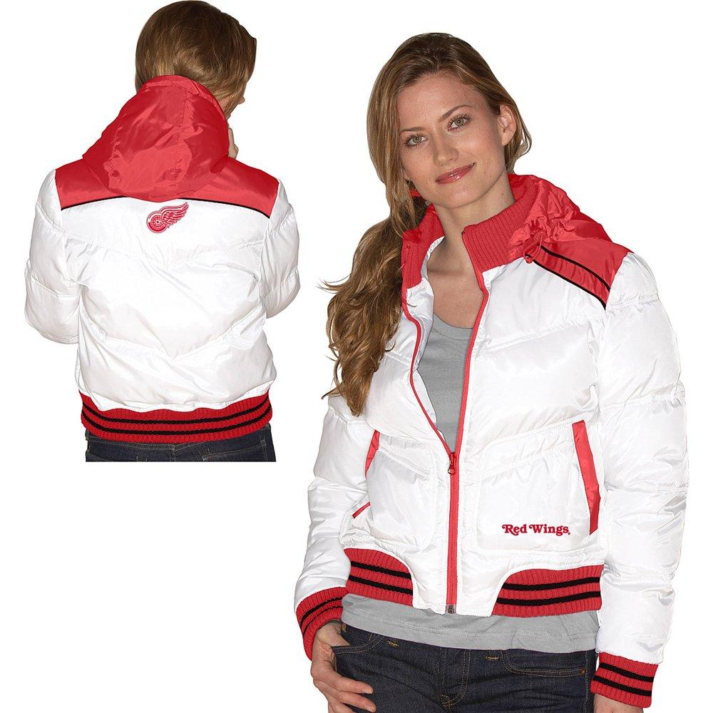 G-III Detroit Red Wings Women's Bubble Jacket with Detachable Hood