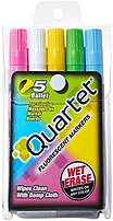 Quartet Qrt5090 Glo-write Fluorescent Wet-erase Markers - 5 Pack
