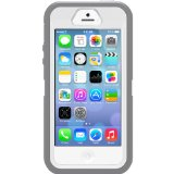 OtterBox [Defender Series] Apple iPhone 5 & iPhone 5S Case - Retail Packaging Protective Case for iPhone - Gray/White