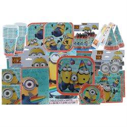 Despicable Me Minions Mega Party Kit 16 Person 146 pc Plates Napkins Cups Etc
