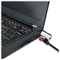 Kensington Clicksafe K64637ww 5 Feet Keyed Laptop Lock - Steel - Black