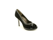 Isola Nara Womens Size 6.5 Black Peep Toe Suede Pumps Heels Shoes