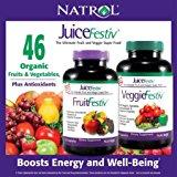 Natrol JuiceFestiv, 240 Capsules (120 FruitFestiv Capsules and 120 VeggieFestiv Capsules - made with organic fruits and vegetables)