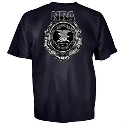 NRA National Rifle Association Shield Protect and Defend T-Shirt-small