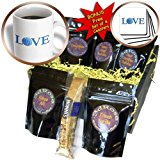 cgb_180478_1 InspirationzStore Love series - Love Knitting - blue text with ball of yarn wool - knit knitter fan - Coffee Gift Baskets - Coffee Gift Basket