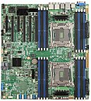 Intel S2600cw2sr Server Motherboard - Intel Chipset - Socket Lga 2011-v3 - 1 Pack - Ssi Eeb - 2 X Processor Support - 1 Tb Ddr4 Sdram Maximum Ram - 2.13 Ghz, 1.87 Ghz, 1.60 Ghz Memory Speed Supported - Dimm, Rdimm, Lrdimm - 16 X Memory Slots - Serial Ata Dbs2600cw2sr