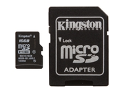 Kingston 16GB Micro SDHC Flash Card