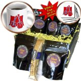 cgb_175955_1 Susans Zoo Crew Music Instrument Guitar - guitar and bass stylized red - Coffee Gift Baskets - Coffee Gift Basket