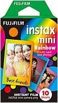 Fujifilm Instax Mini 16437401 Instant Film - 10 Exposures - Rainbow