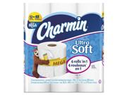 Charmin 94050PK Ultra Soft Bathroom Tissue, 2-Ply, 4 X 3.92, 308/Roll, 12 Roll/Pack