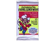 An American Tail: Fievel Goes West Trading Cards Pack (12 cards)