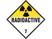 Radioactive Class 7 Placard