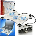 Trademark Global 72-2034  Laptop Buddy Usb Cooling Pad With 3 Fans & 6 Leds